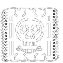 papel picado template for kids coloring pages of printable for dia de los muertos la