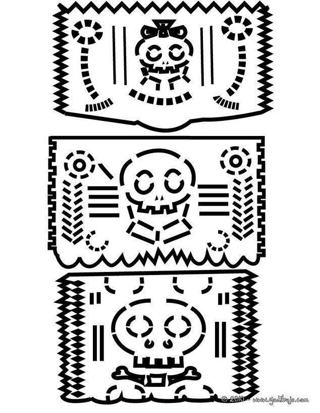 Dibujos Para Colorear Dia De Muertos Imprimir 16 Dibujos