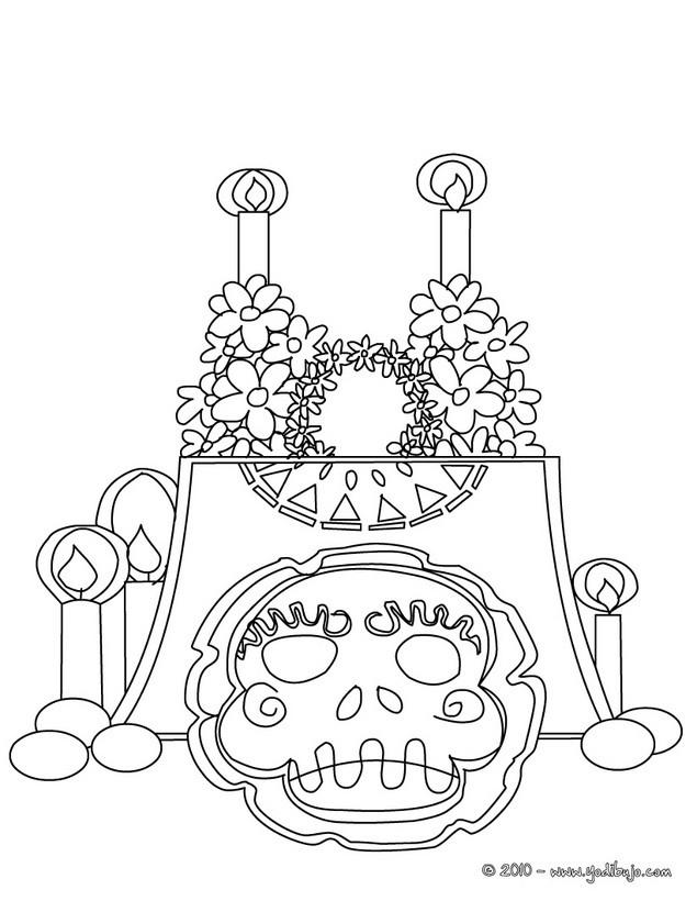 Del Dia De Los Muertos Dibujos Para Colorear Dia De Los Muertos