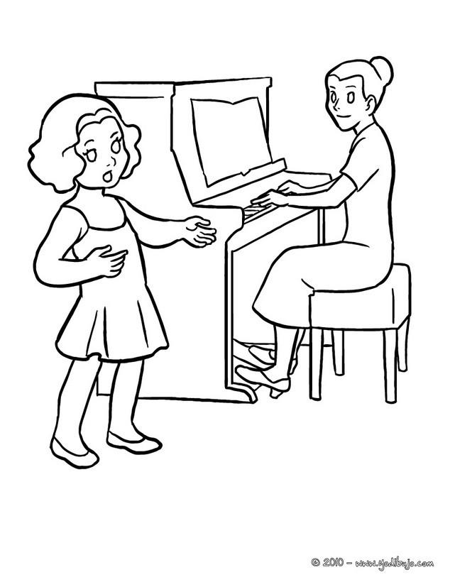 Dibujos Para Colorear Clase De Musica