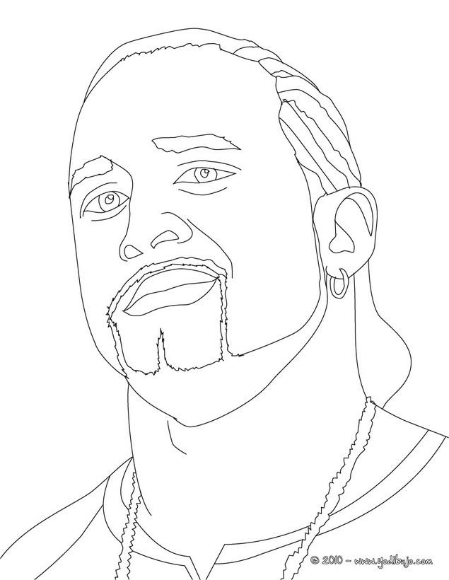 Dibujos para colorear el luchador mvp - es.hellokids.com