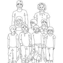 Dibujo para colorear foto del curso del kinder - Dibujos para Colorear y Pintar - Dibujos para colorear de la ESCUELA - Dibujo para colorear CURSOS