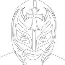 Dibujo para colorear : Máscara de Rey Misterio