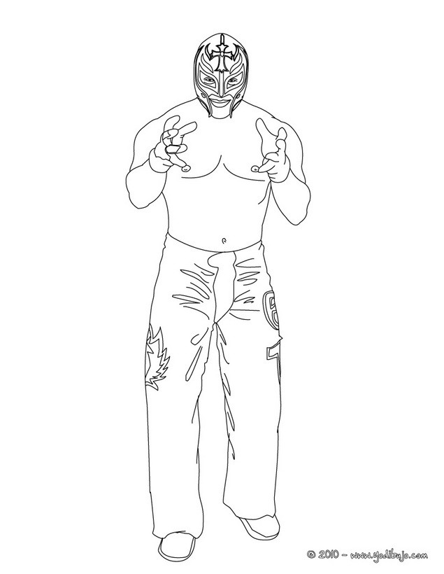 Wrestler mask coloring pages