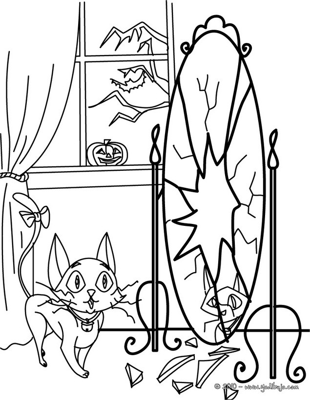 Gato negro : Dibujos para Colorear, Manualidades para niños, Juegos ...