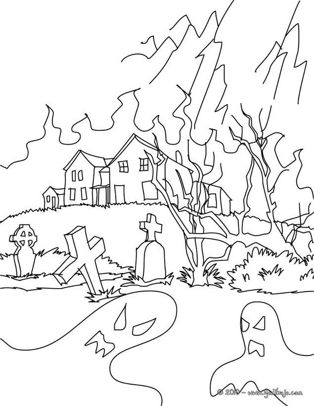 Dibujos para colorear CASA ENCANTADA - 14 imágenes de Halloween para ...