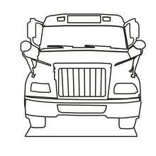 Dibujo para colorear un autobus escolar - Dibujos para Colorear y Pintar - Dibujos para colorear de la ESCUELA - Dibujos VUELTA AL COLE para colorear gratis