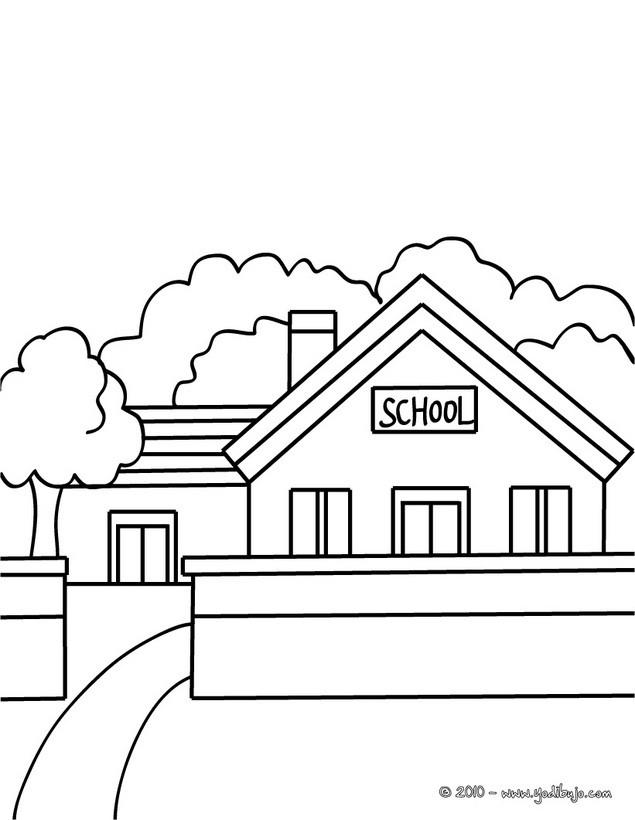 Dibujos Para Colorear Una Escuela Eshellokidscom
