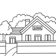 Dibujo para colorear : una escuela