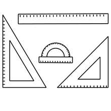 Dibujo para colorear material de geometria - Dibujos para Colorear y Pintar - Dibujos para colorear de la ESCUELA - Dibujos para colorear MATERIAL ESCOLAR