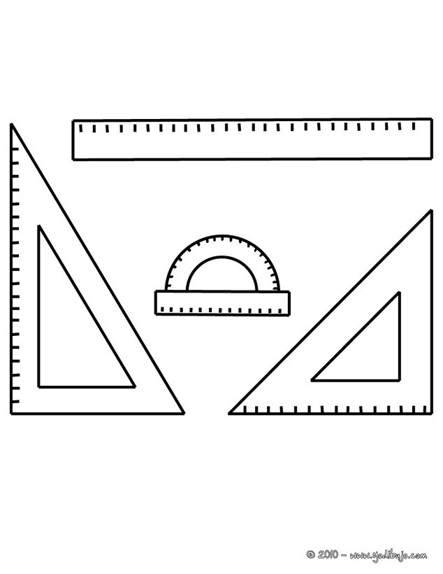 Dibujos para colorear material de geometria - es.hellokids.com