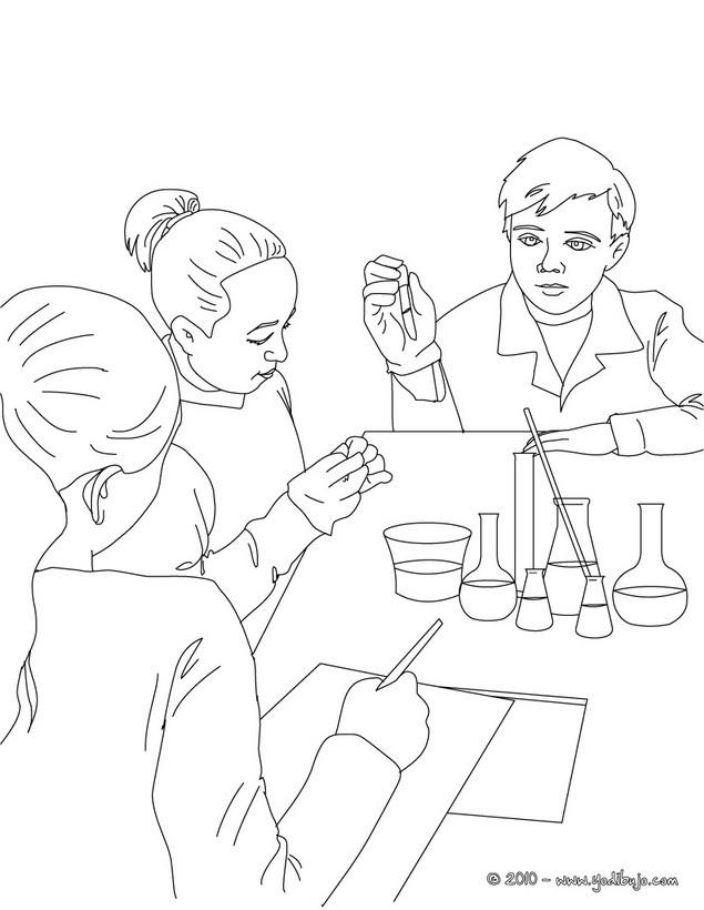Dibujos Para Colorear De Ciencias
