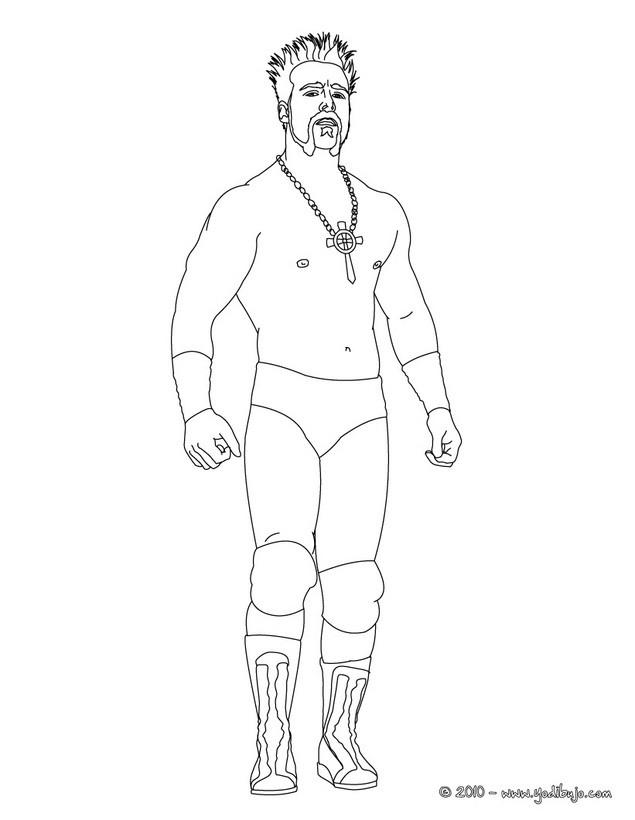 Dibujo para colorear : El luchador Sheamus