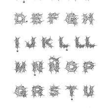 Dibujo para colorear : abecedario araña