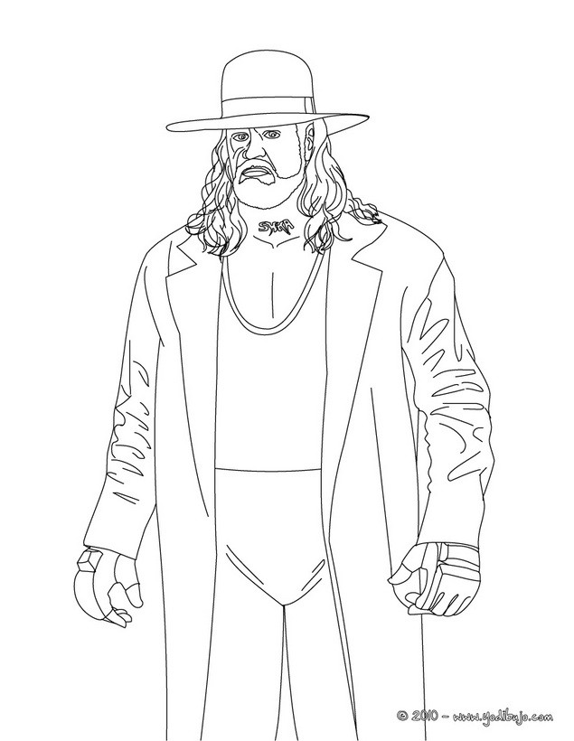 Payfusloder undertaker and kane for Coloring pages of the undertaker