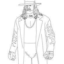 Dibujo para colorear : luchador Undertaker