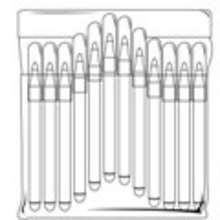 Dibujo de un estuche de bolígrafos - Dibujos para Colorear y Pintar - Dibujos para colorear de la ESCUELA - Dibujos para colorear MATERIAL ESCOLAR