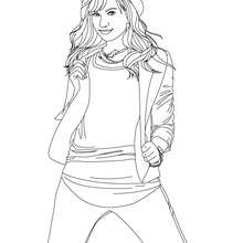 Dibujo para colorear Demi Lovato - Dibujos para Colorear y Pintar - Dibujos para colorear FAMOSOS - DEMI LOVATO para colorear