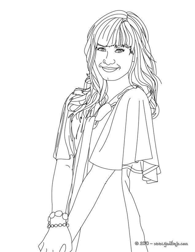 Dibujos para colorear la hermosa demi lovato es for Demi lovato coloring pages