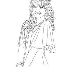 Dibujo para colorear la hermosa Demi Lovato - Dibujos para Colorear y Pintar - Dibujos para colorear FAMOSOS - DEMI LOVATO para colorear