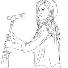 Dibujo Demi lovato en concierto para colorear - Dibujos para Colorear y Pintar - Dibujos para colorear FAMOSOS - DEMI LOVATO para colorear