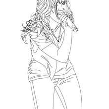 Dibujo para colorear Demi Lovato en vivo - Dibujos para Colorear y Pintar - Dibujos para colorear FAMOSOS - DEMI LOVATO para colorear