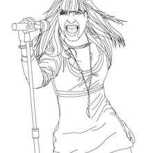 Dibujo Demi Lovato en vivo para colorear - Dibujos para Colorear y Pintar - Dibujos para colorear FAMOSOS - DEMI LOVATO para colorear