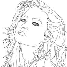 Dibujo para colorear : Retrato de Demi Lovato