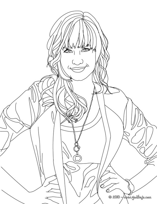 Dibujos para colorear demi lovato posando - es.hellokids.com