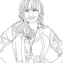 Dibujo para colorear Demi Lovato posando - Dibujos para Colorear y Pintar - Dibujos para colorear FAMOSOS - DEMI LOVATO para colorear