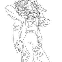 Dibujo de Lady Gaga para colorear en concierto - Dibujos para Colorear y Pintar - Dibujos para colorear FAMOSOS - LADY GAGA para colorear