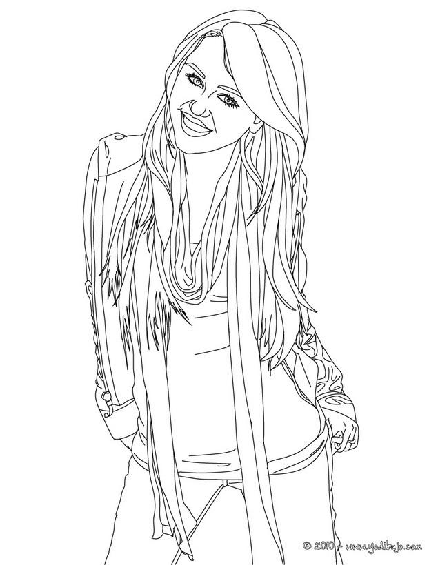becky g coloring pages | Dibujos para colorear miley - es.hellokids.com