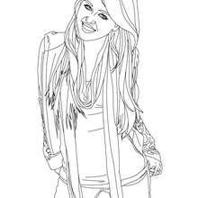 Dibujo de Miley para colorear - Dibujos para Colorear y Pintar - Dibujos para colorear FAMOSOS - MILEY CYRUS para colorear