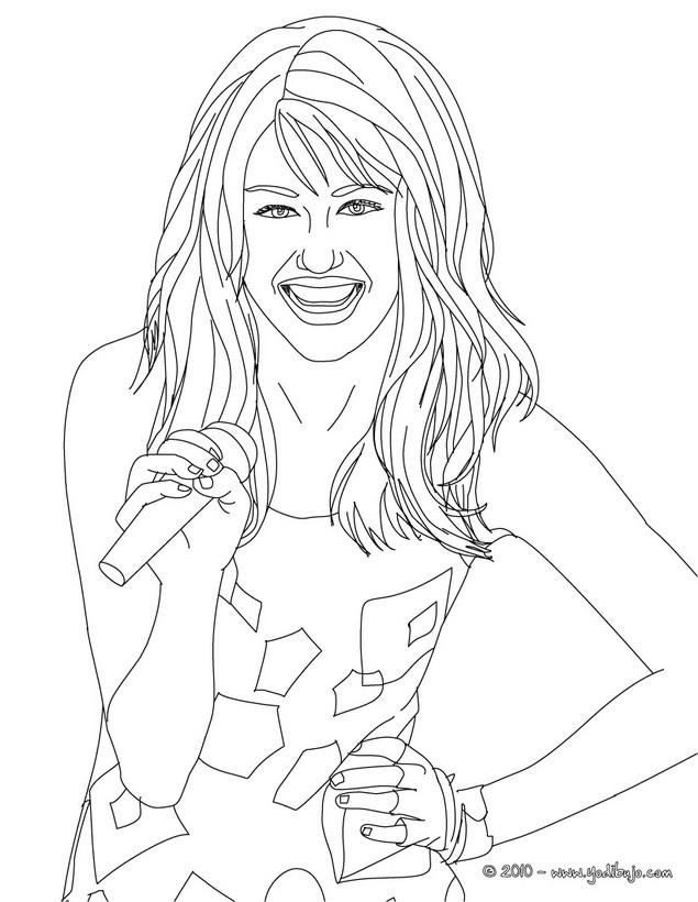Dibujos de HANNAH MONTANA para colorear - imprimir y pintar 3 ...