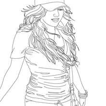 Dibujo para colorear Miley Cyrus en vivo - Dibujos para Colorear y Pintar - Dibujos para colorear FAMOSOS - MILEY CYRUS para colorear