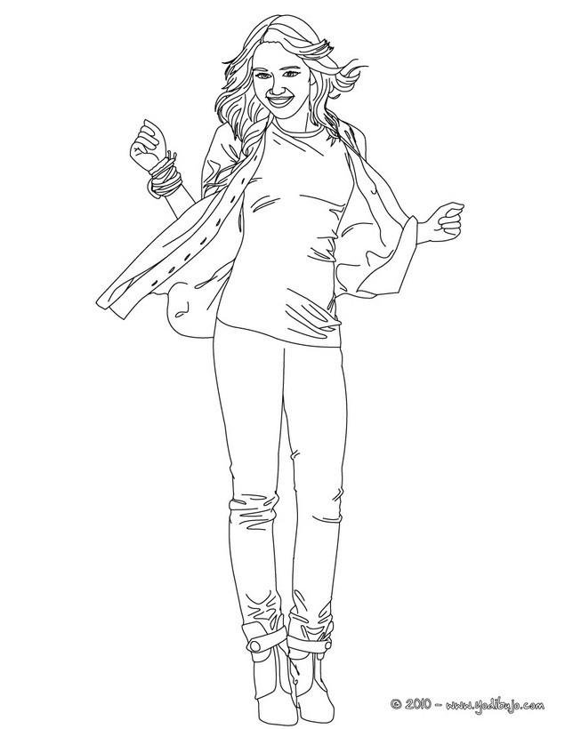 dibujos para colorear miley contenta  eshellokids