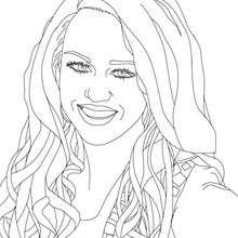 Dibujo para colorear : Hermosa Miley