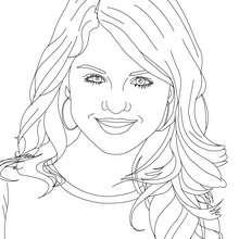 Retrato de Selena Gomez para colorear - Dibujos para Colorear y Pintar - Dibujos para colorear FAMOSOS - SELENA GOMEZ para colorear