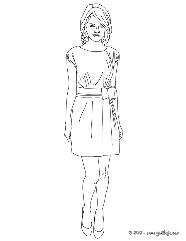 becky g coloring pages | PARA COLOREAR: COLOREAR A SELENA GÓMEZ