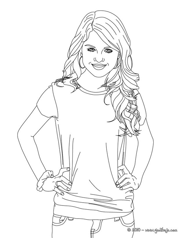 Justin bieber and selena gomez coloring pages