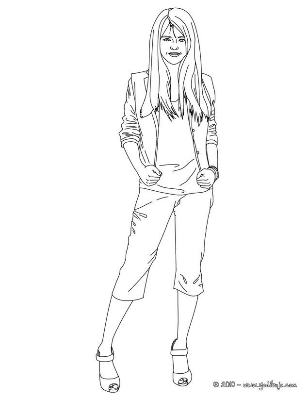 Dibujos para colorear de selena g mez for Selena gomez coloring page