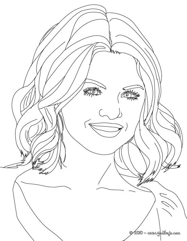Dibujo para colorear : la bellisima Selena Gomez