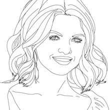 Dibujo para colorear la bellisima Selena Gomez - Dibujos para Colorear y Pintar - Dibujos para colorear FAMOSOS - SELENA GOMEZ para colorear