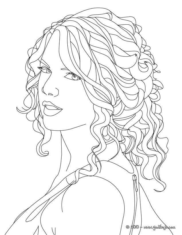taylor swift coloring pages - dibujos para colorear retrato de taylor swift es