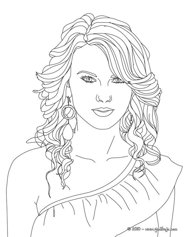 Dibujos de TAYLOR SWIFT para colorear - imprimir y pintar 15 dibujos ...