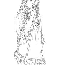 Dibujo para colorear Taylor Swift cantando - Dibujos para Colorear y Pintar - Dibujos para colorear FAMOSOS - TAYLOR SWIFT para colorear