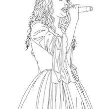Dibujo para colorear : Taylor Swift en concierto