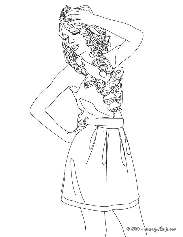Dibujos para colorear taylor swift posando for Taylor swift coloring pages