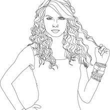 Dibujo para colorear : la melena de Taylor Swift