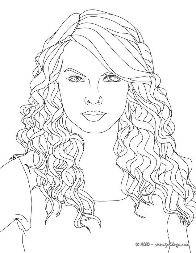 Dibujos para colorear retrato de la hermosa taylor swift - es ...
